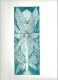 妖精の木_2012 25×10cm カラー銅版画
